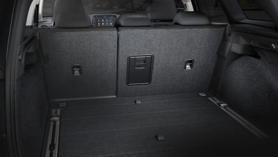 A photo showing the roomy load space of the new Hyundai i30 Wagon.